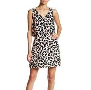 1. State Cheetah Print Sleeveless Popover Dress